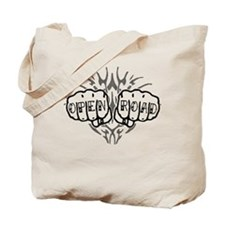 Open Road Knuckle Tattoo Tote Bag