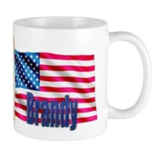 Brandy Personalized USA Flag Gift Mug