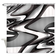 Modern Stylish Waves Shower Curtain