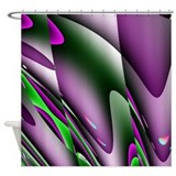Deep Purple Waves Abstract Shower Curtain