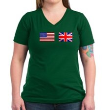 USA and UK Flags for Dark Shirt