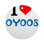I Love Oyoos design Ornament (Round)