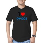 I Love Oyoos design Men's Fitted T-Shirt (dark)