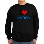 I Love Oyoos design Sweatshirt (dark)