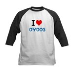 I Love Oyoos design Kids Baseball Jersey