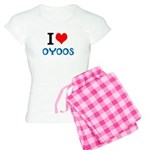 I Love Oyoos design Women's Light Pajamas