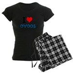 I Love Oyoos design Women's Dark Pajamas