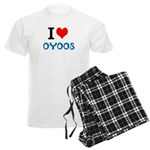 I Love Oyoos design Men's Light Pajamas