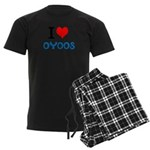 I Love Oyoos design Men's Dark Pajamas