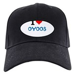 I Love Oyoos design Black Cap
