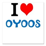 I Love Oyoos design Square Car Magnet 3