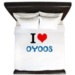 I Love Oyoos design King Duvet