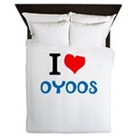 I Love Oyoos design Queen Duvet