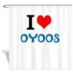 I Love Oyoos design Shower Curtain