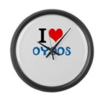 I Love Oyoos design Large Wall Clock