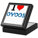 I Love Oyoos design Keepsake Box