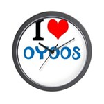 I Love Oyoos design Wall Clock