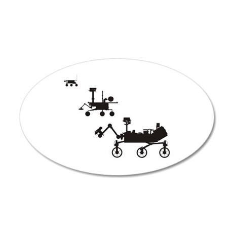 Mars Rovers 20x12 Oval Wall Decal