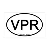V Pride Rectangle Car Magnet
