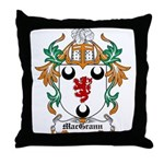MacGrann Coat of Arms Throw Pillow