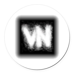 VN Logo Round Car Magnet