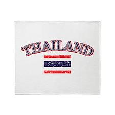 Thailand Flag Designs Throw Blanket