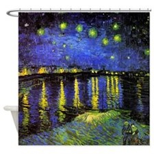 Van Gogh Starry Night Over The Rhone Shower Curtai