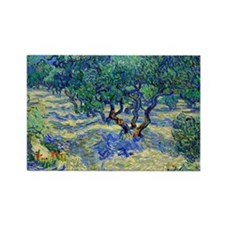 Van Gogh - Olive Orchard Rectangle Magnet