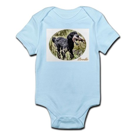 Black Poodle Infant Bodysuit
