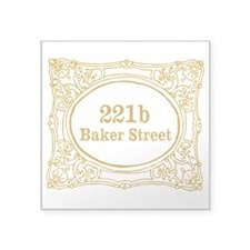 "221b Baker Street Square Sticker 3"" x 3"""