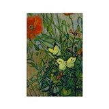 Van Gogh - Butterflies Rectangle Magnet (10 pack)