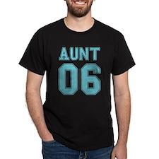 Block Stencil Aunt 06 Black T-Shirt