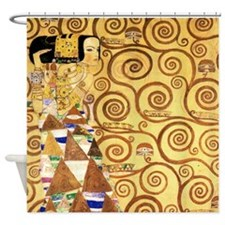 Gustav Klimt the Expectance Shower Curtain