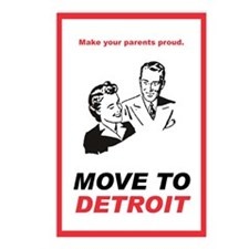 Move to Detroit Postcards (Package of 8)