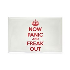 Now paninc and freak out Rectangle Magnet (100 pac