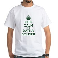 Keep calm and date a soldier Shirt