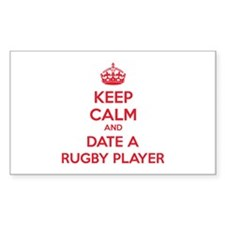 Keep calm and date a rugby player Decal