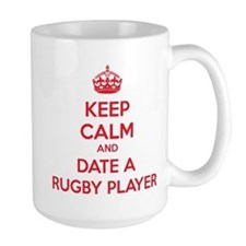 Keep calm and date a rugby player Mug
