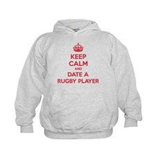 Keep calm and date a rugby player Hoodie