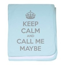 Keep calm and call me maybe baby blanket