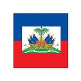 "Haiti Flag Square Sticker 3"" x 3"""