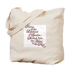 Unique Poetry Tote Bag