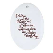 Cute Poetry Oval Ornament