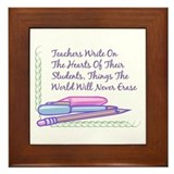 Teachers Write On The Hearts. Framed Tile