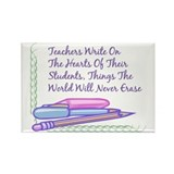 Teachers Write On The Hearts. Rectangle Magnet (10
