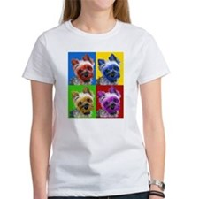 Cute Yorkie art Tee