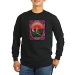 Doves Framed Long Sleeve Dark T-Shirt