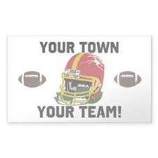 Helmet Red and Gold Decal