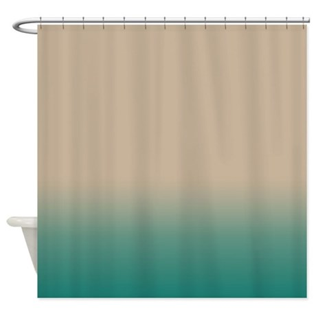 Sand And Blue Green Shower Curtain By Kinnikinnicktoo