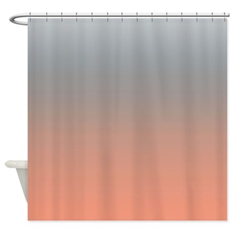 peachy gray shower curtain by kinnikinnicktoo